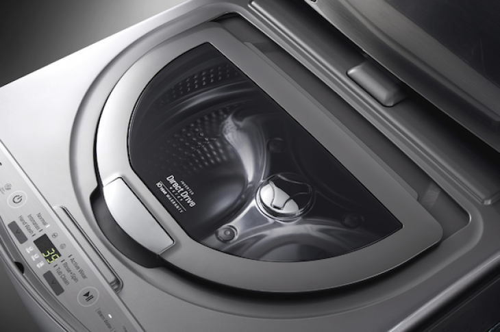 LG SideKick compact clothes washer for the laundry room