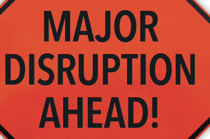 disruption sign—warning!