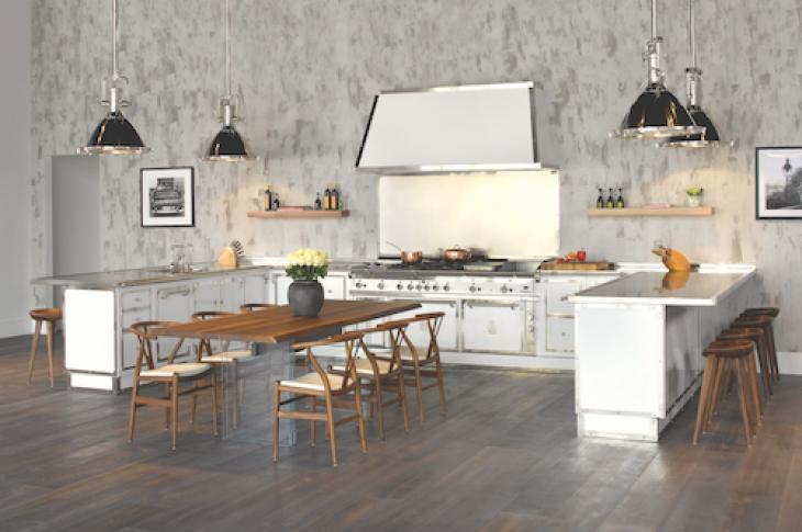 Custom kitchen in white, Officine Gullo Photo by Ken Hayden Photography