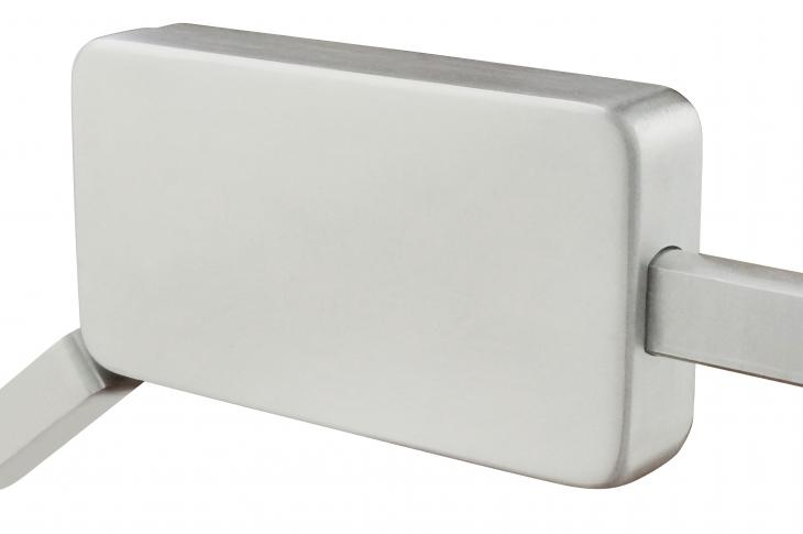 The INOX brand Surface Mount Barn Door Lock is billed by Unison Hardware as the first such lock crafted specifically for barn doors. With a design based on builder feedback requesting easier and quicker installation, the manufacturer touts a 15-minute install time with this product. The lock also is available in an ADA option (shown), which features a longer one-touch thumb lever to activate the 1-inch bolt-locking mechanism.
