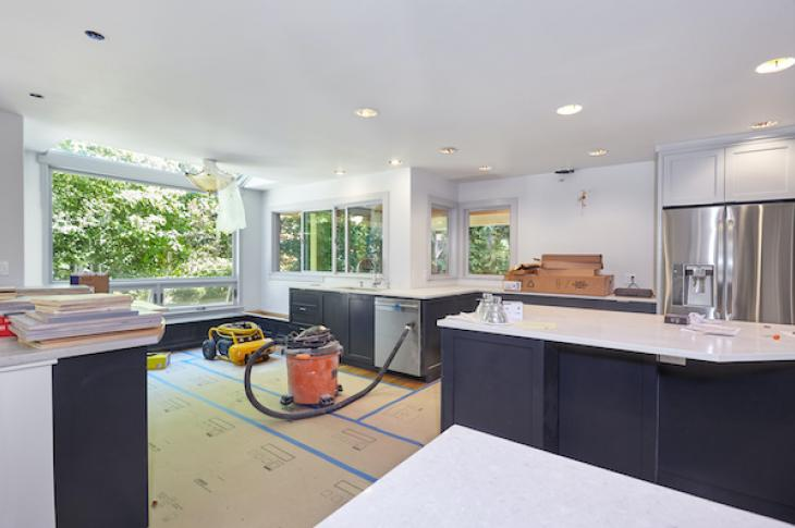 Kitchen in the middle of a renovation