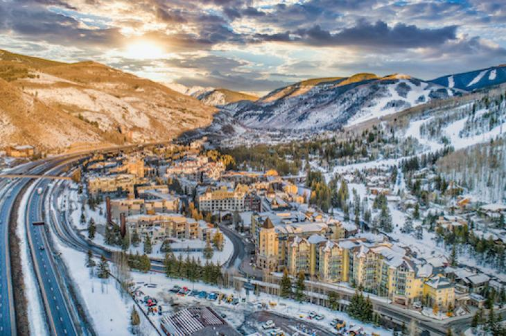 Aerial view of Vail, Colorado
