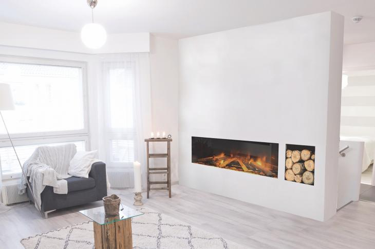 E Series electric fireplaces from Electric Modern offer a solution for ventless applications in multifamily structures or environmentally friendly spaces.