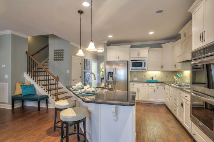 Kitchen in Goodall Home's Arlington model