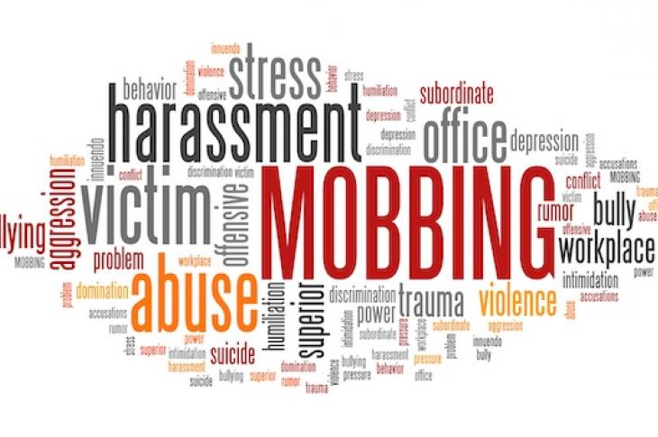 Harassment word cloud