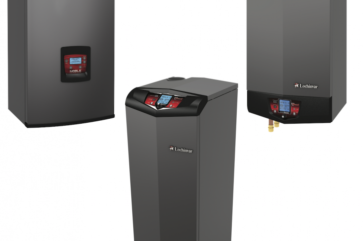 Now in its fourth generation, Lochinvar's high-efficiency condensing residential Knight Fire Tube Boiler series has a 95 percent annual fuel utilization efficiency (AFUE) rating and enhanced control functionality for optimized heating performance. The boiler is offered in six floor-standing models (55,000 to 285,000 Btu/hr) and seven wall-mount options (55,000 to 399,000 Btu/hr), each with turndown ratios, which determine operational range, of up to 10:1.