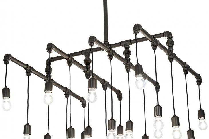 Meyda Custom Lighting's new collection of decorative fixtures, PipeDream