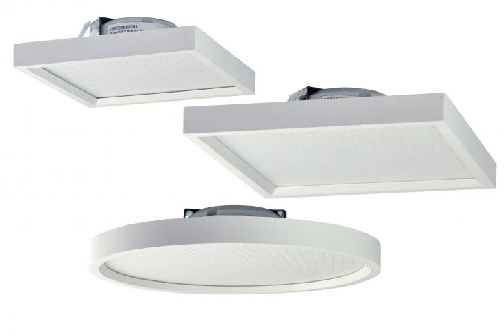 The slim-line Surf LED surface-mount ceiling fixture from Nora Lighting