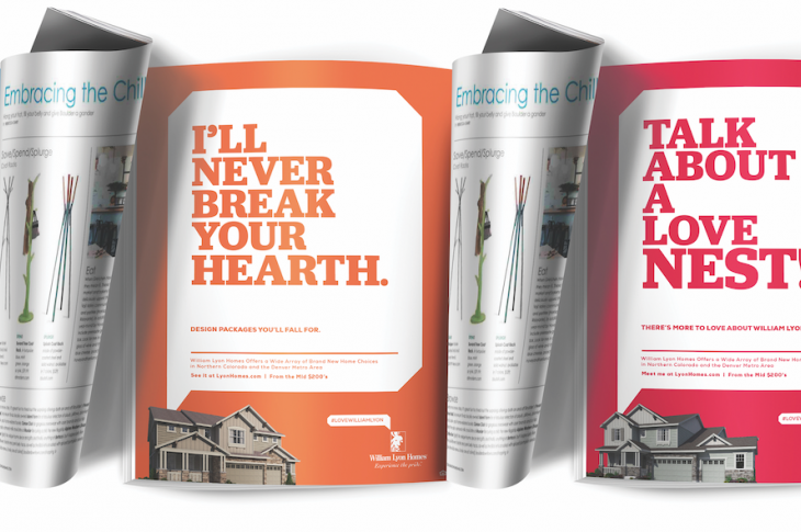 marketing materials from The Nationals 2019 winner for best print campaign, William Lyon Homes