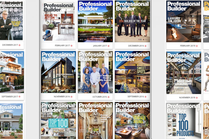Professional Builder digital and print offerings_Pro Builder magazine covers
