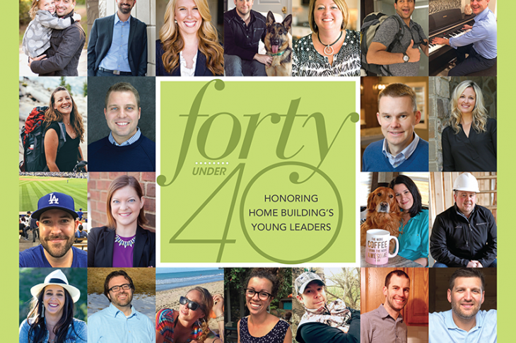 Montage of 40 Under 40 winners
