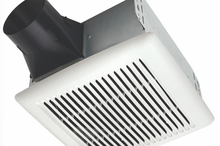 The Flex DC series from Broan is billed as the most flexible and efficient exhaust fan platform currently on the market. A Snap-Fit flange kit provides the option of installing the fan with or without a flange. Grille channels are designed to ease grille installation, while vertical alignment tabs—now placed on the housing's corners—allow more fan space from the joist for better fitting drywall. The series' TrueSeal damper technology reduces backdraft by more than 50 percent relative to standard fans