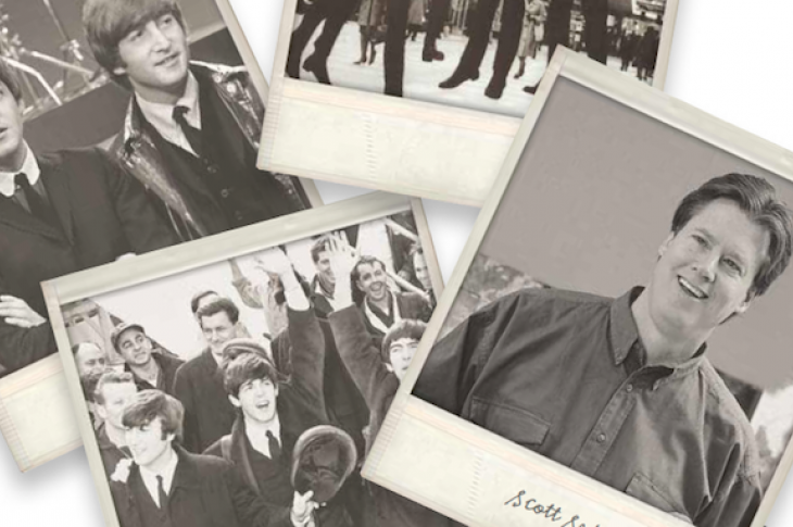 Scott Sedam on staying relevant-old photos of Sedam and Beatles