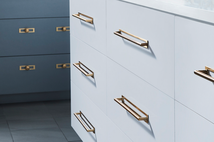 Top Knobs on kitchen cabinets