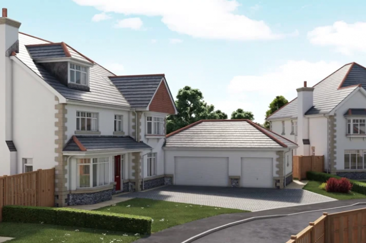 external flyaround of new homes using virtual reality