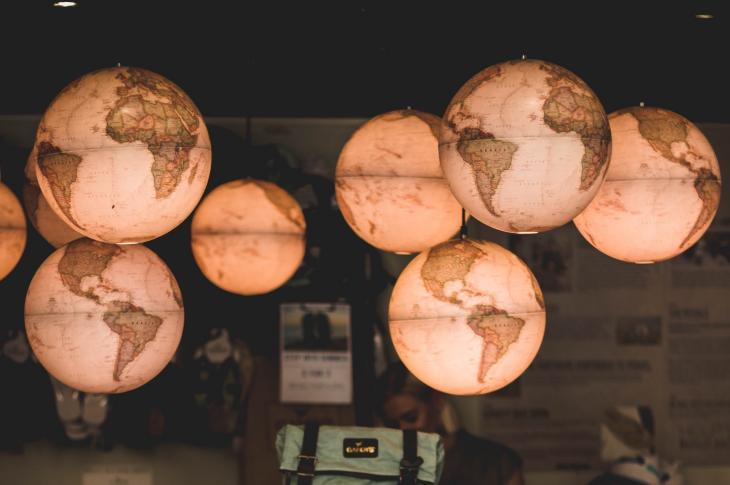 Cluster of globe lights