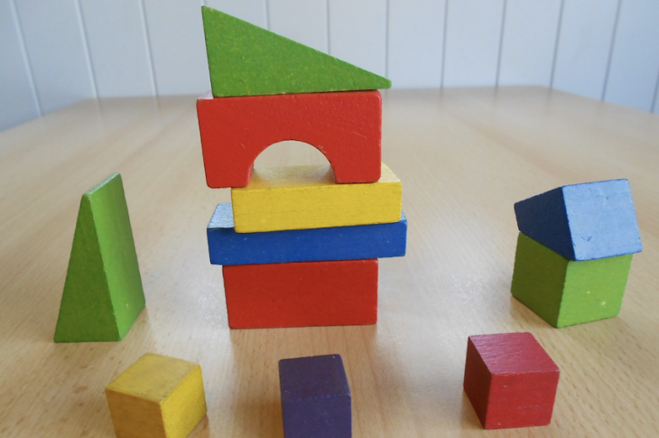 building blocks stacked in different levels