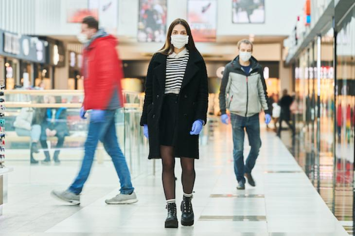 Grocery store masks pandemic