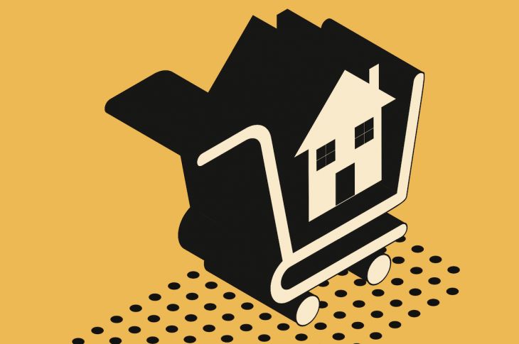 home in shopping cart represents self-service homebuying disrupting the industry