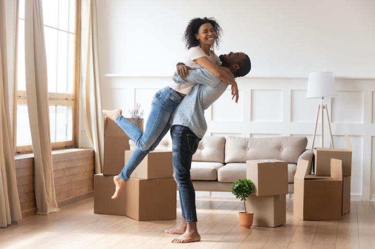 Homebuyers with new home