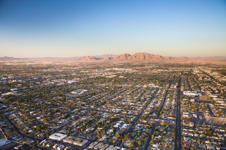 housing aerial away from downtown Las Vegas Nevada