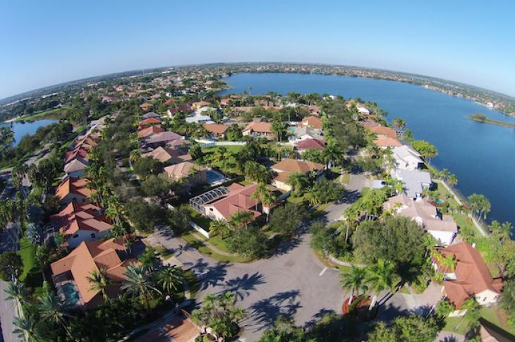 Housing aerial in Florida