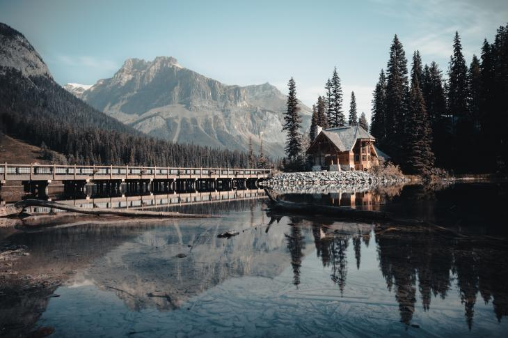Cabin at Emerald Lake, Canada