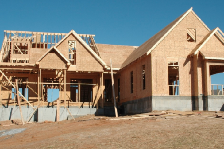 new home construction-house framed and walls up-photo-CC0 Public domain