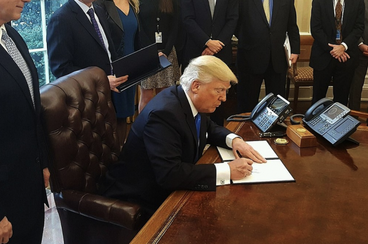 president trump signs bill into law at white house