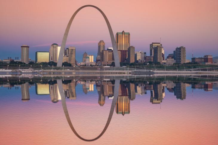 St. Louis Arch at Sunrise