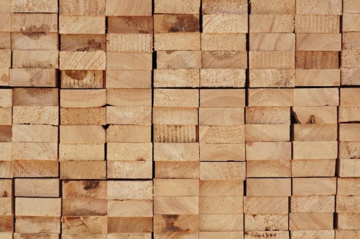 Timber wood in a stack