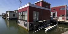 Floating house prototypes designed to cope with sea level rise