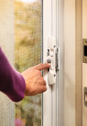The Brisa Retractable Screen Door by ODL installs quickly and gives users maximum outdoor views.