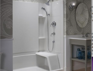 Sterling's Accord Seated Shower is ideal for universal design and aging-in-place