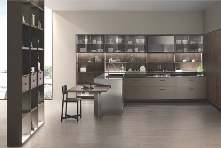 Ernestomeda's Soul kitchen cabinet range offers sleek, modern style