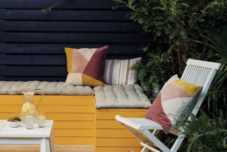 Farrow & Ball paints nature collection of exterior paint colors in yellow and deep blue