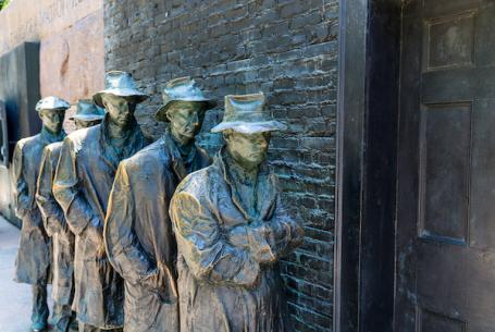 Statues of great depression line