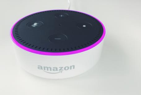 Amazon Alexa in a home on a table
