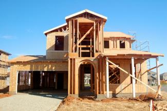 Single family home being built