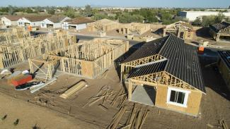 Multiple single-family homes being built