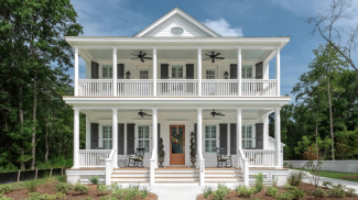 Curb appeal_home exterior_Awendaw plan_Charleston, S.C._Saussy Burbank