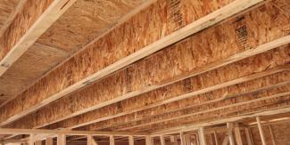"Advanced framing techniques such as framing with I-joists spaced 24"" on center reduces labor and material costs."