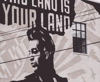 Mural of Woody Guthrie