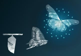 Reshaping housing industry to go digital butterfly concept from chrysalis to butterfly