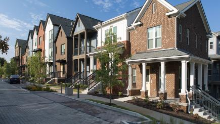 Kirkpatrick Park street view of townhomes, Nashville