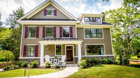 James Hardie ColorPlus Technology siding on a home