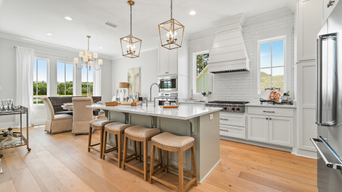 2019 Professional Builder Design Awards Silver Single Family Production Home 2,001 to 3,100 sf interior kitchen and living space