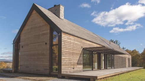 Home exterior in Ne York's Hudson River Valley clad in Kebony modified wood