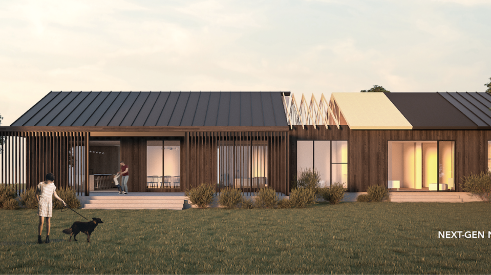 ModsPDX Next-Gen Net Zero modular home at Show Village 2020
