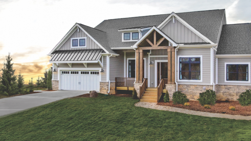 Schumacher Homes on-your-lot home design, home exterior
